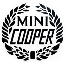 autocollant cooper lauriers...