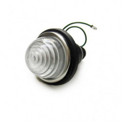 indicator lamp with clear plastic lens