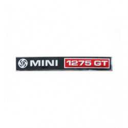 badge boot 1275gt badge rear, black+silver