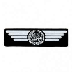 "decal "" mini cooper "" winged sticker"