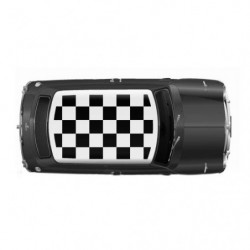 decal roof black squares genuine rover