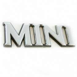 "badge "" m i n i "" stick on to 1990,silver face"