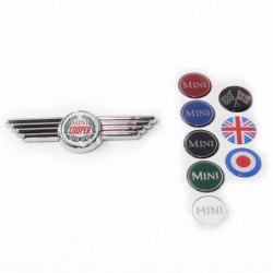 late mini winged badge with green logo