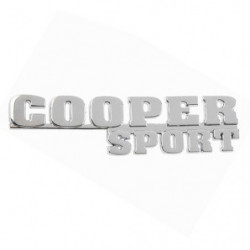 badge cooper sport chrome badge (last cars)
