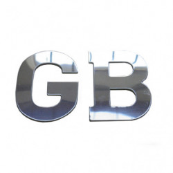 gb stainless steel badge self adhesive