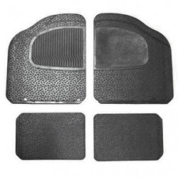 rubber floor mat set front/rear with r/h carpet heelpad