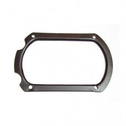 gear lever gaiter retaining plate for rod change box