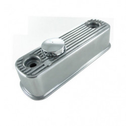 flat top polished alloy rocker cover with chrome cap