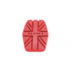 union jack design pedal rubber - red