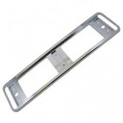 chrome plastic number plate surround