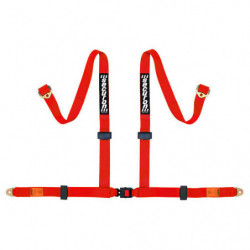 seat belt 4 point harness in red