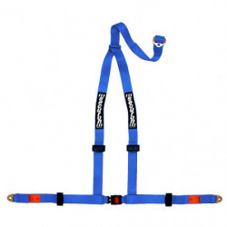 seat belt 3 point rally harness in blue