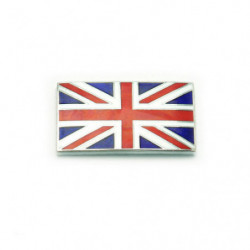 enamel union jack stick on badge