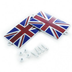 union jack resin enamel badge with lugs to screw on