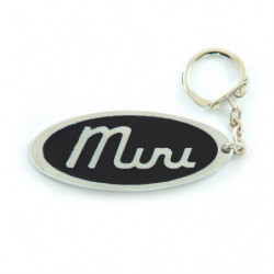 porte cles metal oval mini...