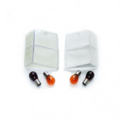 upper clear rear lens kit with coloured bulbs mk4 on