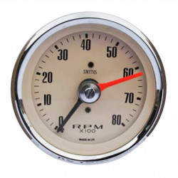 tachometer gauge 0-80 smiths in magnolia 80mm