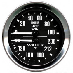 water and oil dual smiths gauge