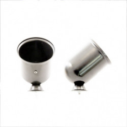 tacho pod chrome housing for 80mm tacho