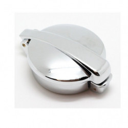 monza chrome petrol cap with collar