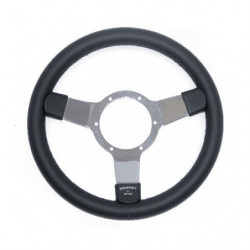 "steering wheel 12"" leather with shiny spokes"