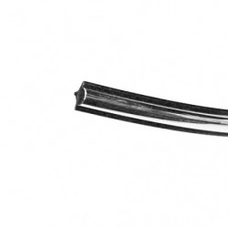 windscreen fillet silver strip (front or rear) lux