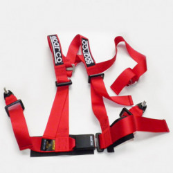 sparco seat belt 3 points (red)