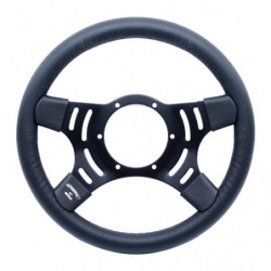 "steering wheel 4 spoke 13""leather semi dish"