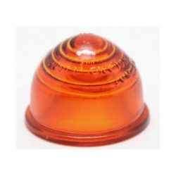 lens in orange domed glass for indicator lamp