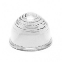 lens in white domed glass for indicator lamp