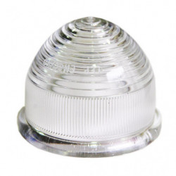 clear plastic lens for early indicator lamp