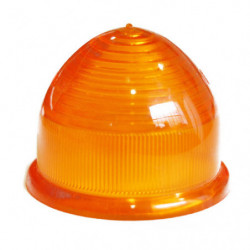 lens in amber domed plastic for indicator lamp