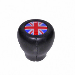 gear lever knob leather less motif flat