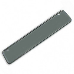 number plate backing s/steel - for latest uk size plate