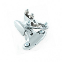 bootlid hinges chrome plated pair