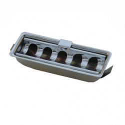 chrome ashtray with fluted top