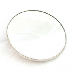 retroviseur ext rond (glace plate) chrome